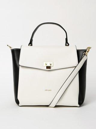 Černo-bílá kabelka kabelka Hampton