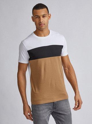 Bielo-hnedé tričko Burton Menswear London Tee