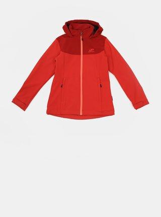 Červená dievčenská softshellová vodeodolná bunda Hannah Abona