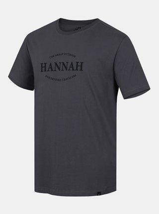 Šedé pánské tričko s potiskem Hannah Waldorf