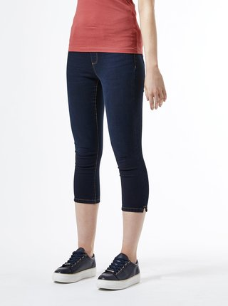 Tmavomodré 3/4 skinny fit rifle Dorothy Perkins