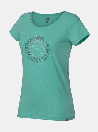 Zelené dámske tričko s potlačou Hannah Karmela