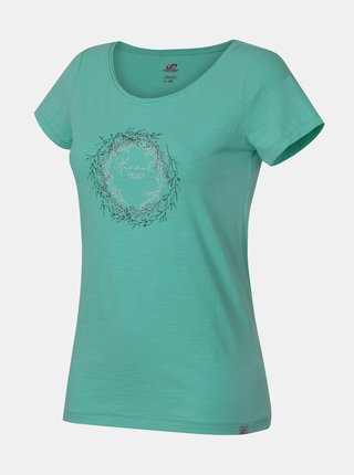 Zelené dámské tričko s potiskem Hannah Karmela