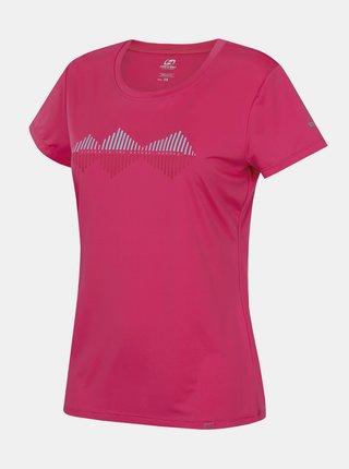 Růžové dámské funkční tričko s potiskem Hannah Saffi