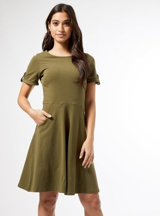 Khaki šaty Dorothy Perkins Petite