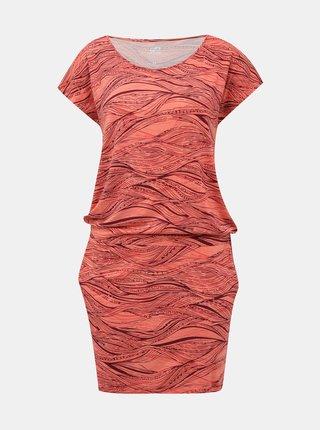 Koralové vzorované šaty Hannah Zanziba