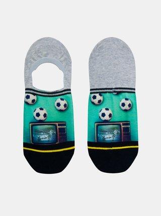 Zeleno-šedé pánské nízké ponožky XPOOOS