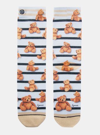 Hnedo-krémové dámske ponožky XPOOOS