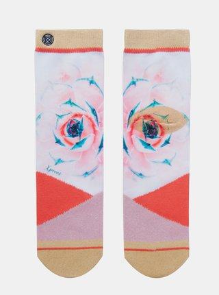 Červeno-růžové dámské ponožky XPOOOS