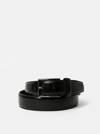 Černý pánský kožený pásek Dice Valona