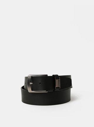 Černý pánský kožený pásek Dice Toluca