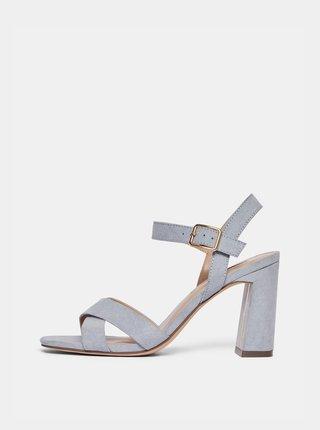 Svetlomodré sandále v semišovej úprave Dorothy Perkins