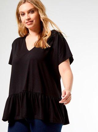 Černé tričko Dorothy Perkins Curve