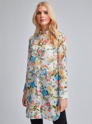 Krémová kvetovaná košeľa Dorothy Perkins