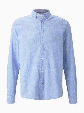 Světle modrá pánská lněná košile Tom Tailor