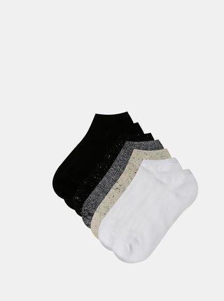 Sada siedmich párov nízkych ponožiek v čiernej a šedej farbe TALLY WEiJL