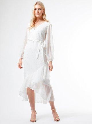 Bílé vzorované šaty Dorothy Perkins