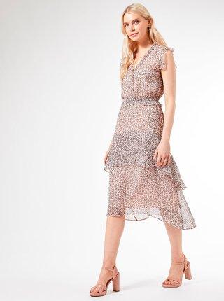 Ružové vzorované šaty Dorothy Perkins