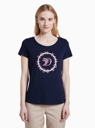 Tmavomodré dámske tričko Tom Tailor Denim