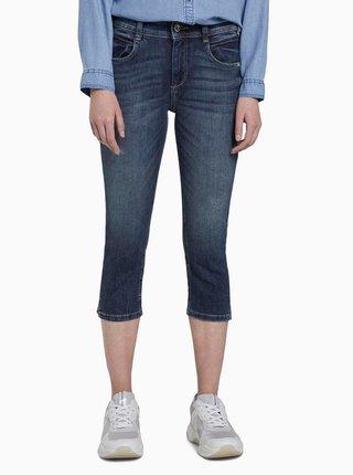 Modré dámské 3/4 slim fit džíny Tom Tailor