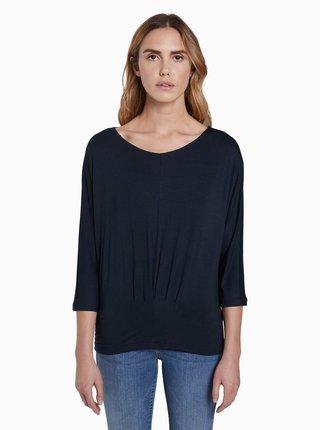 Tmavě modré dámské tričko Tom Tailor