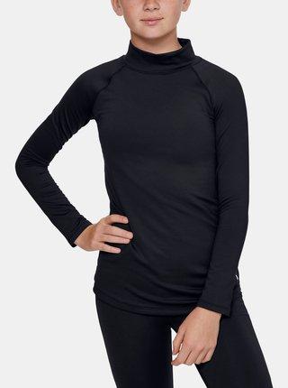 Černé holčičí tričko ColdGear Under Armour