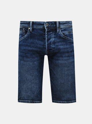 Tmavomodré pánske rifľové kraťasy Pepe Jeans Track
