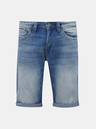 Modré pánske rifľové kraťasy Pepe Jeans Cash