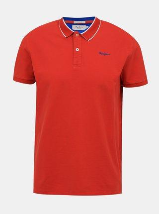 Červené pánské polo tričko Pepe Jeans Lou