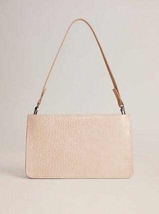Krémová crossbody kabelka s krokodýlím vzorem Mango Mia