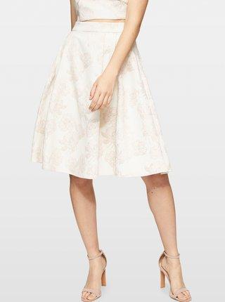Krémová vzorovaná sukňa Miss Selfridge