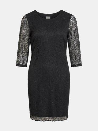 Černé krajkové šaty VILA