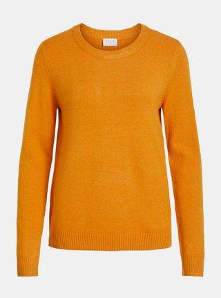 Oranžový basic svetr VILA