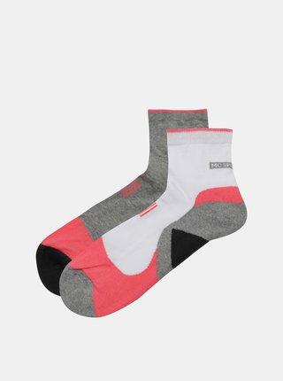 Sada dvoch párov šedých ponožiek Marie Claire