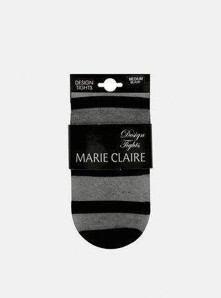 Černé pruhované punčochové kalhoty Marie Claire