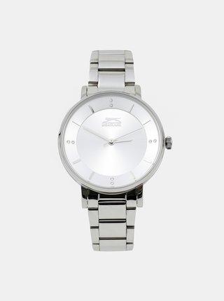 Dámské hodinky s kovovým páskem ve stříbrné barvě Slazenger