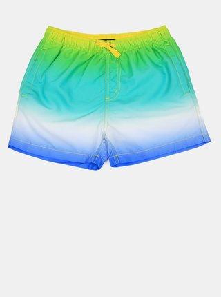 Modro-zelené chlapčenské plavky Blue Seven