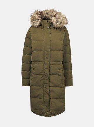Kaki zimný prešívaný kabát VILA California