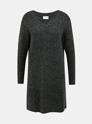 Tmavošedé svetrové šaty VILA