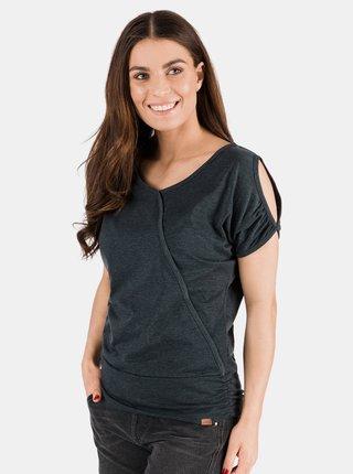 Čierne dámske tričko s priestrihmi SAM 73