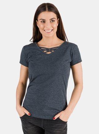 Tmavě modré dámské basic tričko SAM 73