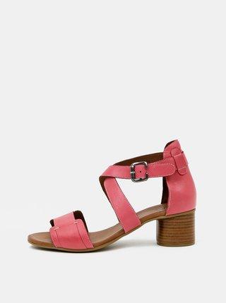 Ružové kožené sandálky WILD
