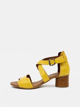 Žluté kožené sandálky WILD