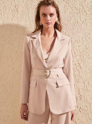 Světle růžové sako Trendyol