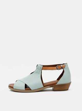 Světle modré dámské kožené sandály WILD