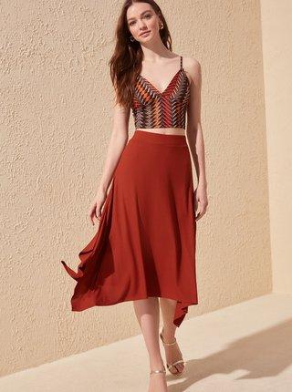Červená sukňa Trendyol