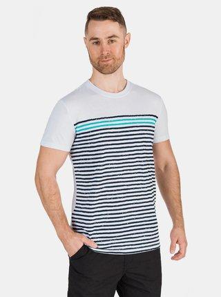 Bílé pánské pruhované tričko SAM 73