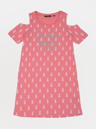 Růžové holčičí vzorované šaty Blue Seven