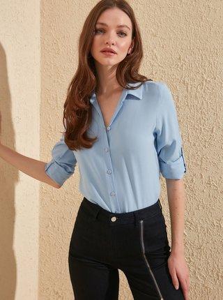 Modrá košeľa Trendyol