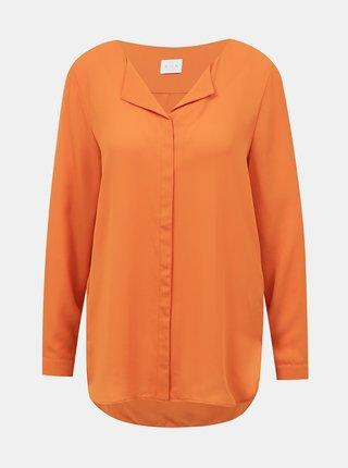 Oranžová voľná blúzka VILA